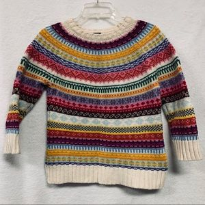 Lambswool sweater multicolored stunning  a2 medium